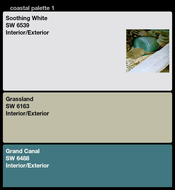 Coastal Paint Color Palette Sherwin Williams White
